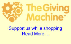Support us while shopping at The Giving Machine